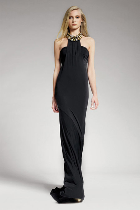 Donna Karan Black Evening Gown
