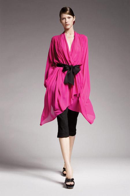 Donna Karan Pink Chiffon Blouse