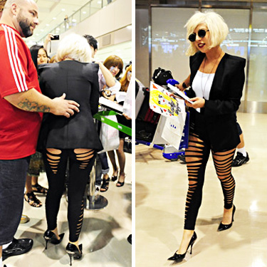 Lady Gaga Ripped Leggings