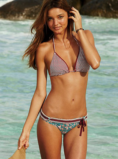 Miranda Kerr in Bikini with Laces