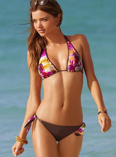 Miranda Kerr in Exotic Prints Bikini