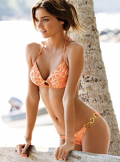 Miranda Kerr in Golden Rings Bikini