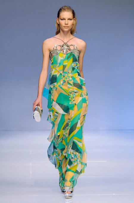 Pucci Long Chiffon Dress