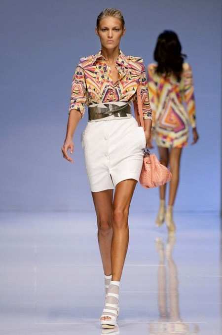 Pucci Shirt with Geometrical Prints