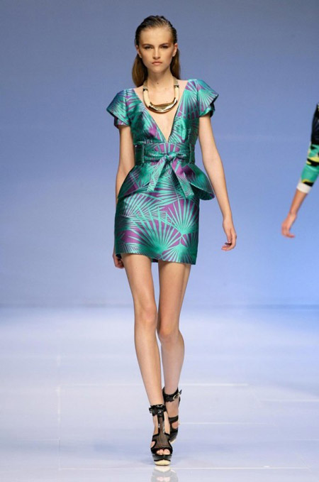 Pucci Turquoise with Purple Dress