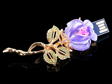 Purple Rose USB Flash Drive