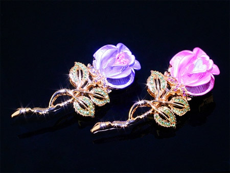 Rose Brooch Flash Drives