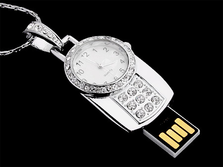 USB Flash Drive - Jewel Watch Necklace