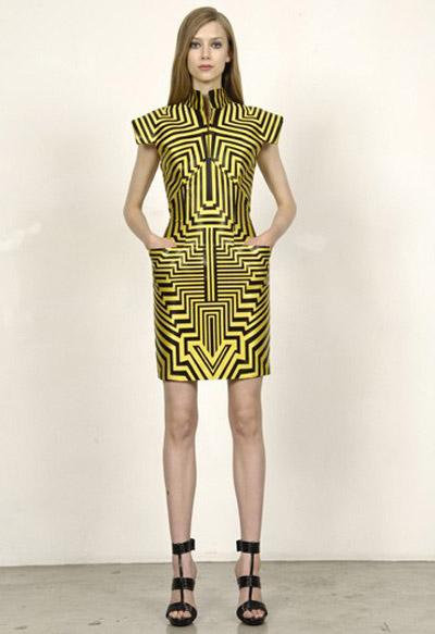 Alexander McQueen Cruise Collection Pointy Shoulder Dress