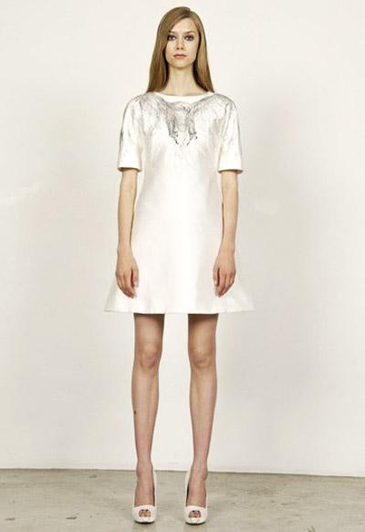 Alexander McQueen Cruise Collection White Dress