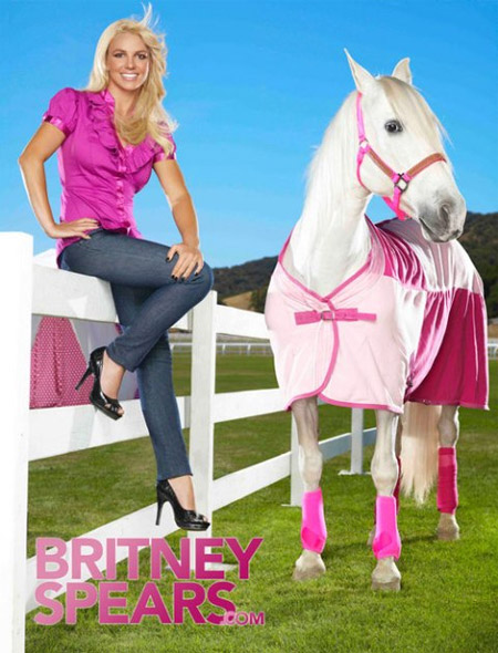Britney Spears with Horse Ads