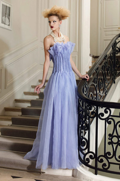 Christian Dior Blue Gown