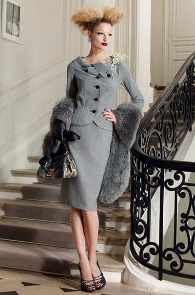 Christian Dior Classic Elegant Grey Suit