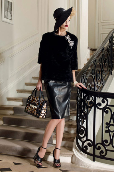 Christian Dior Leather Skirt