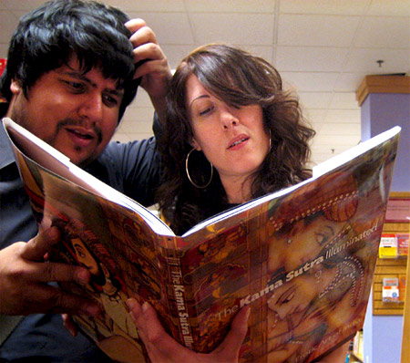 Couple Reading Kama Sutra