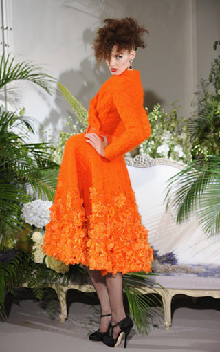 Dior Haute Couture Orange Coat