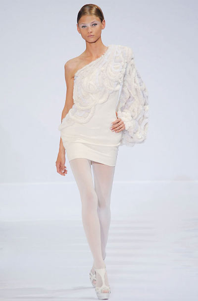 Elie Saab Assymetrical Mini-Dress