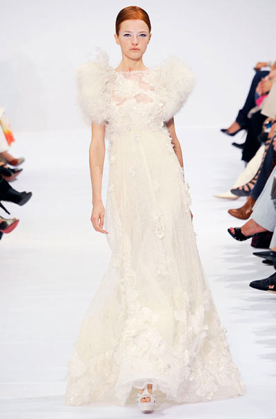 Elie Saab Dress with Feather Decoration