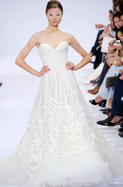 Elie Saab Strapless Evening Gown