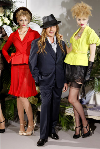 John Galliano with Models