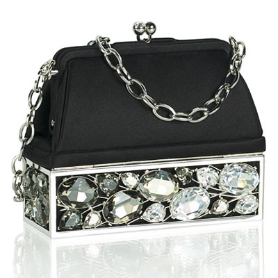 Judith Leiber Black Bag with Crystals