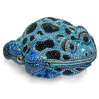 Judith Leiber Blue Crystal Frog Bag