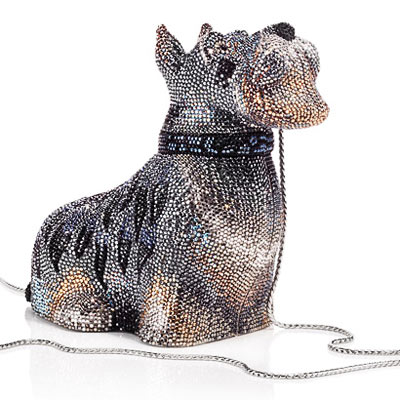 Judith Leiber Crystal Dog Handbag