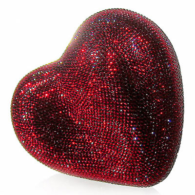 Judith Leiber Crystal Heart Bag