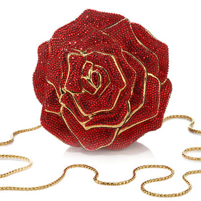 Judith Leiber Red Crystal Rose Bag