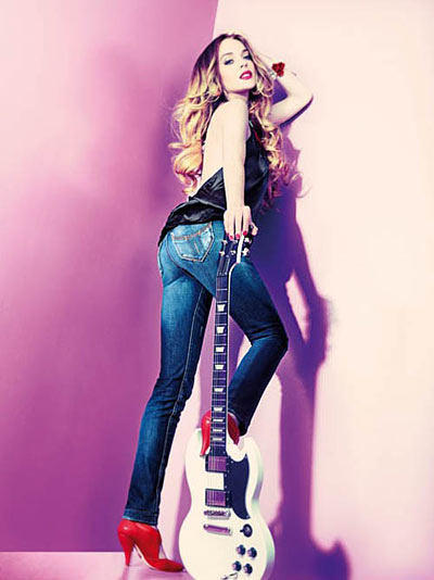 Lindsay Lohan with Guitar