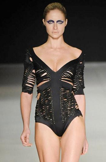 Luiza Bonadiman Black Swimsuit