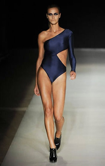 Luiza Bonadiman Blue One Shoulder Swimsuit