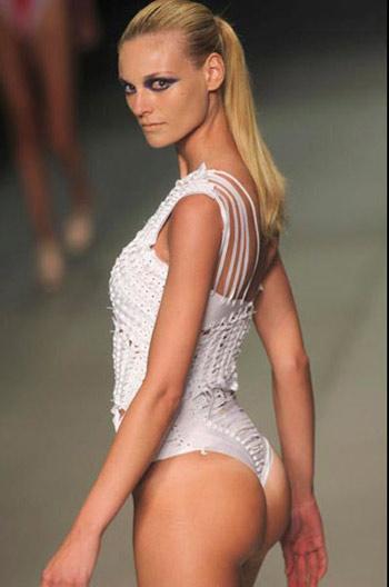 Luiza Bonadiman White Swimsuit