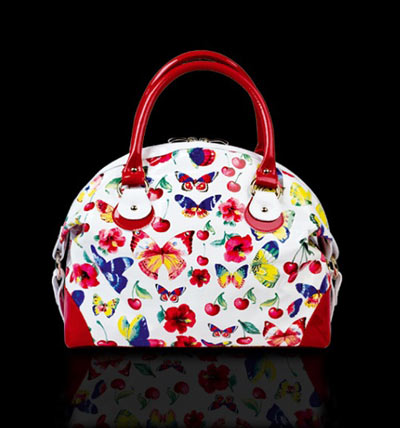 Marino Fabiani Flowers and Butterflies Handbag