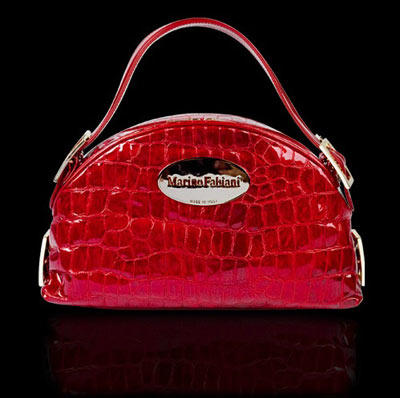 Marino Fabiani Lacquered Leather Handbag