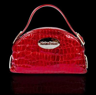Marino Fabiani Lacquered Leather Handbag