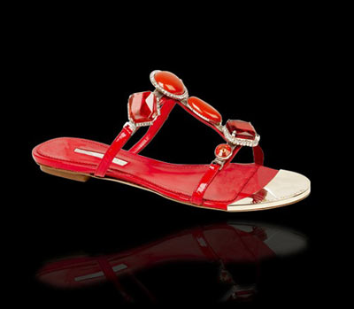 Marino Fabiani Red Flips-Flops