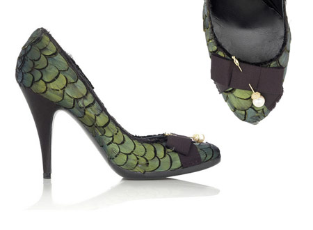 Minnie Feather Pumps by Pedro Garcia