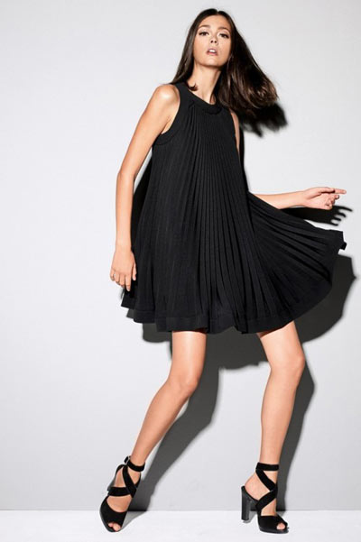 Strenesse Black Ruffle Dress