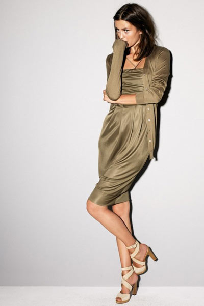 Strenesse Olive Dress and Sweater