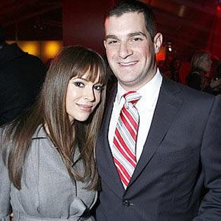 Alyssa Milano and David Bugliari