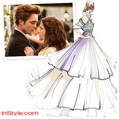 Bella Wedding Dress Sketches