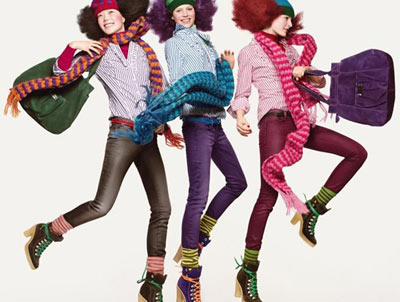 Benetton Bright Fall Fashion