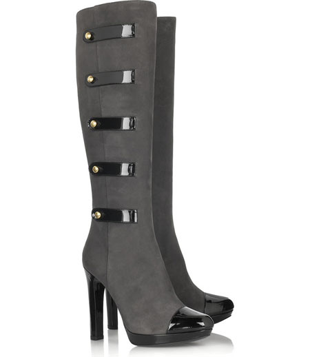 Fendi Military-Inspired Suede Boots