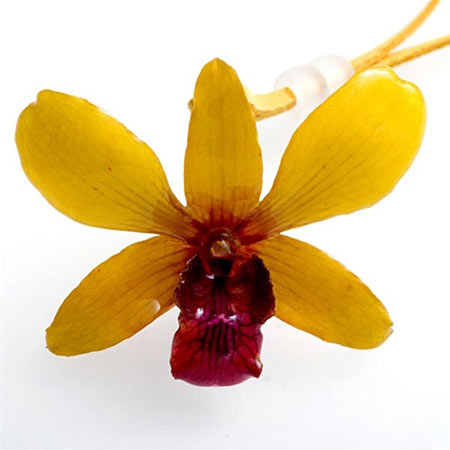 Hanami Yellow Flower Pendant