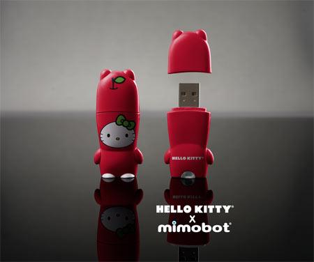 Hello Kitty and Mimobot Flash Drive