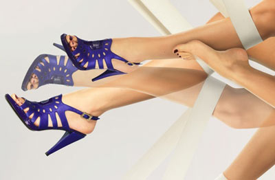 Karine Arabian Blue High Heel Shoes