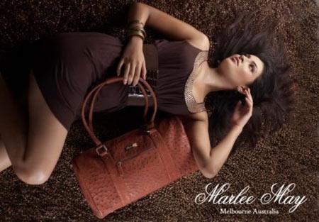 Marlee May Chocolate Leather Handbag