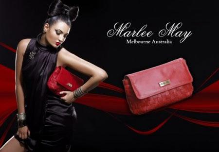 Marlee May Luxury Red Leather Handbag