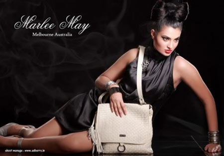 Marlee May White Leather Handbag
